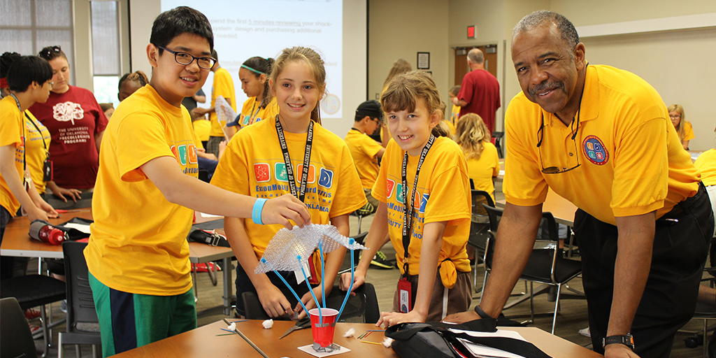 Students having fun at OU Precollegiate Programs summer camp