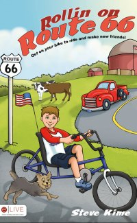 The book cover of Rollin on Route 66, which will benefit special olympics oklahoma