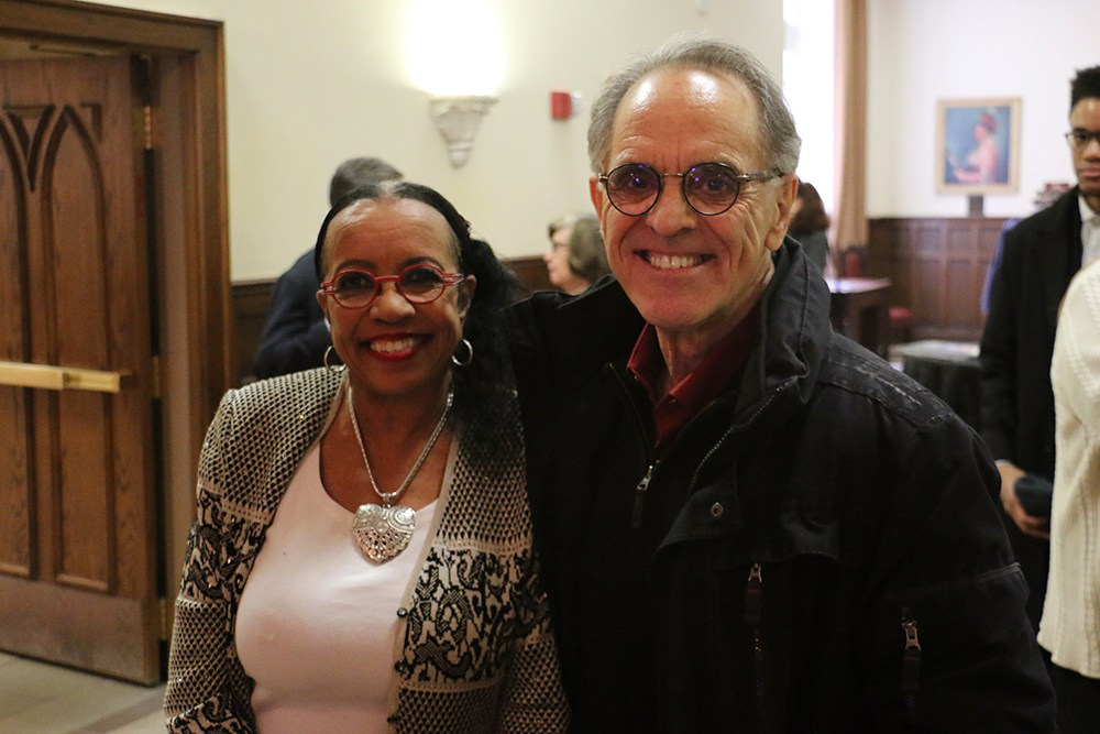 Belinda Biscoe and R.C. Davis at Dr. Pappas' Retirement Reception