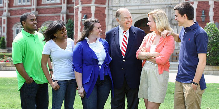benefits of being a sooner - President Boren with students