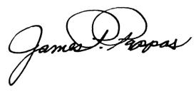 James Pappas signature for the Dean's Viewpoint in Vantage Point