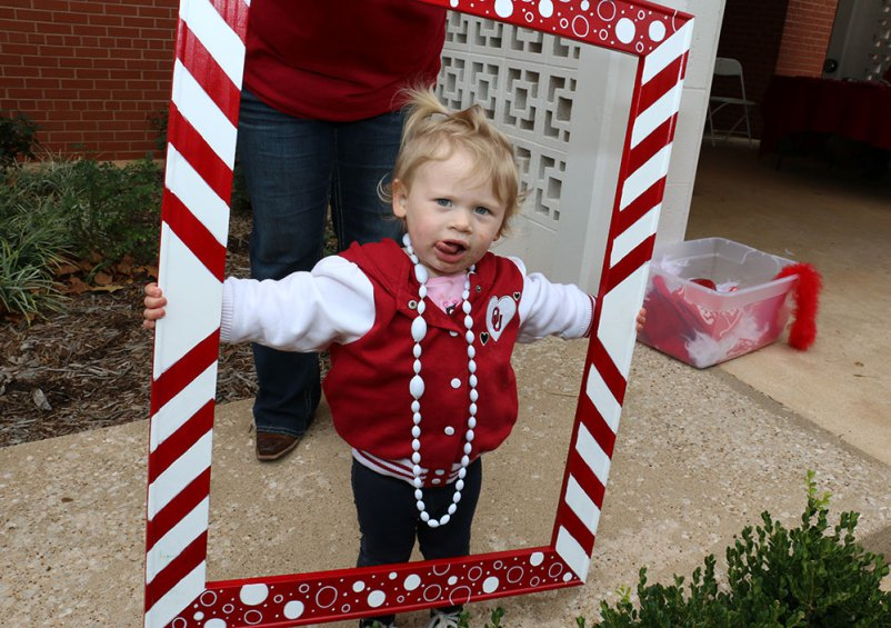 A future sooner at a CLS tailgate party, Sooner Born and Sooner Bred