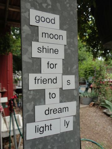 Magnetic poetry at the Rural Oklahoma Museum of Poetry ROMP
