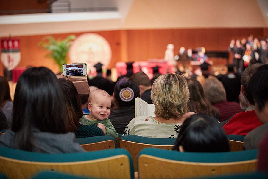 Students celebrate with their families at the OU Extended Campus Winter 2017 Convocation
