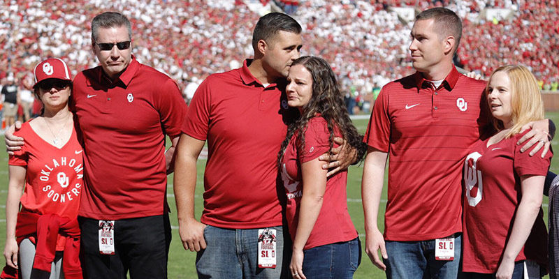 Las Vegas officers honored at OU-Iowa State game