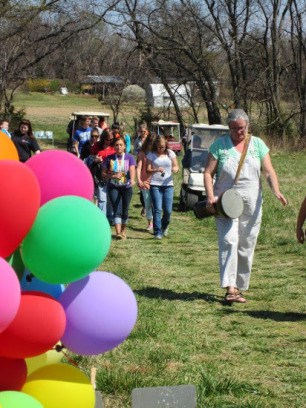 Balloon parade at the Rural Oklahoma Museum of Poetry ROMP