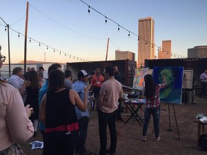 Artists at the NEXT/NOW live street art competition
