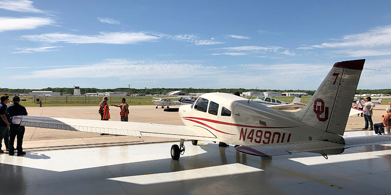 OU School of Aviation Students Participate in Charity Event