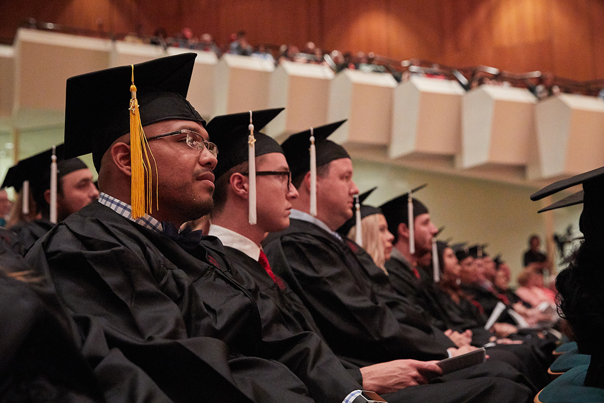 Students posing at the Spring 2017 Convocation