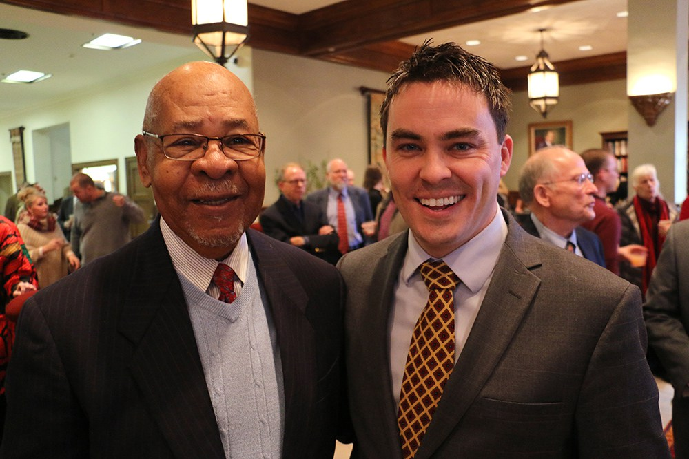 Kyle Harper and George Henderson at Dr. Pappas' Retirement Reception
