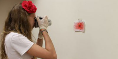Campers Learn Crime Scene Investigation Skills