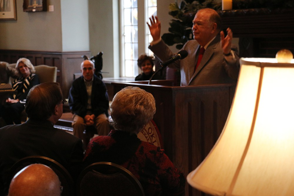 President Boren at Dr. Pappas' Retirement Reception