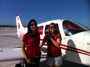 Robin Torres and Keenyn Duncan, OU Aviation Okie Derby participants
