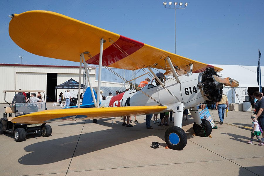 Aircraft on display at the Westheimer Aviation open house