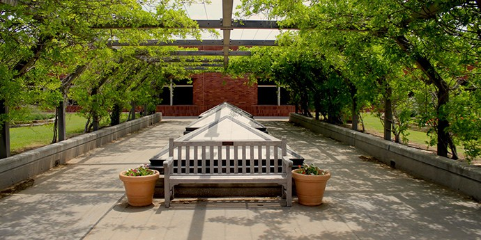 get to the Sarkeys rooftop garden on the OU campus
