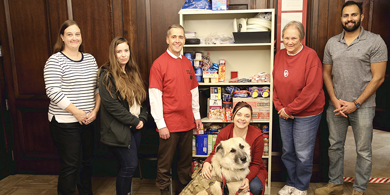 Donations Help Stock Pantry at Student Veterans Association Lounge