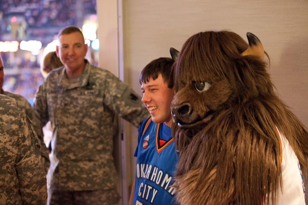 Rumble at the OKC Thunder Military Appreciation event