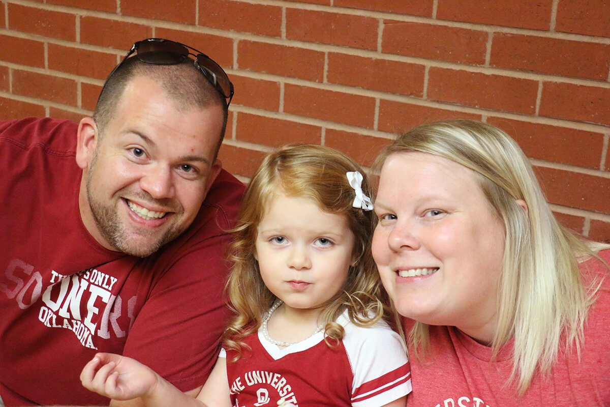 Sooner fans at the 2016 Tailgate Party