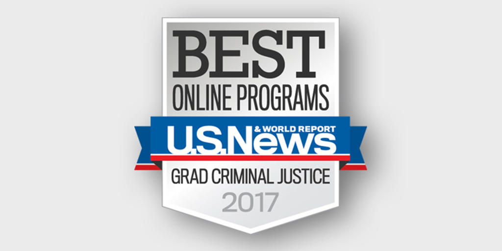 badge for best online master of science in criminal justice