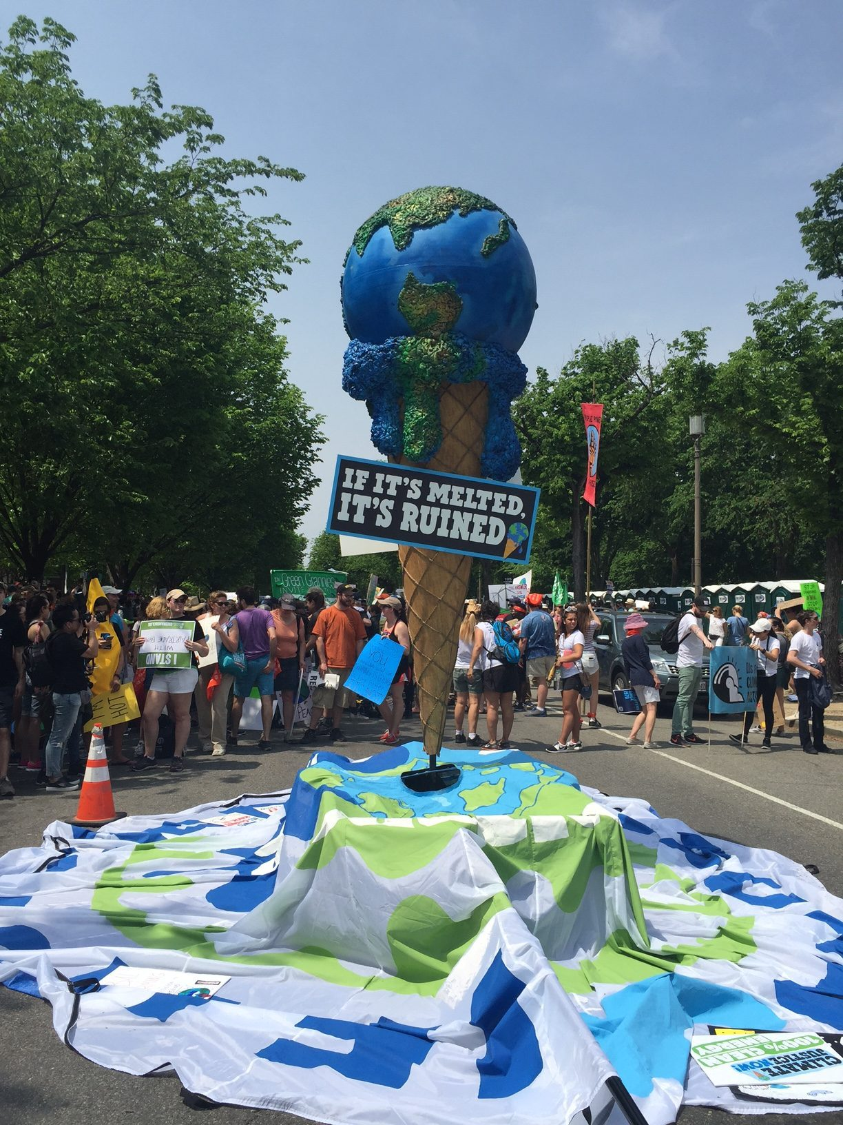 display at the People's Climate March