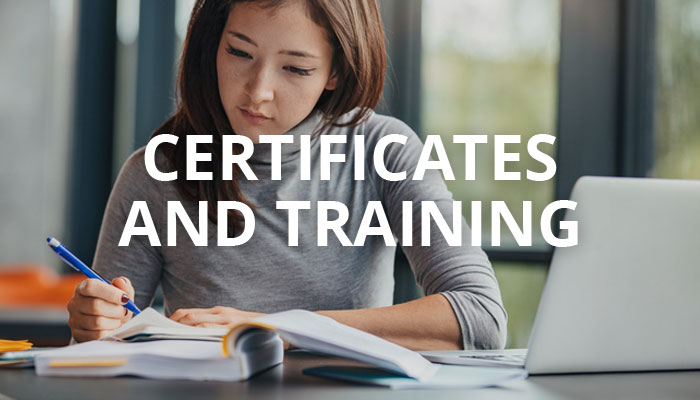 Certificates and Training
