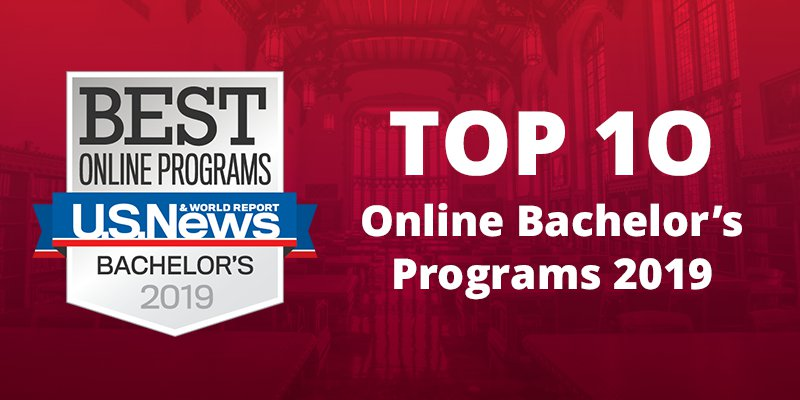 U S News and World report top 10 online programs